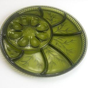 Vintage Indiana Glass Eggs / Relish Dish